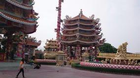 Chinesischer Tempel, Pattaya-Stadt stock video