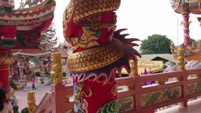 Chinesischer Tempel in Pattaya, Thailand stock video footage