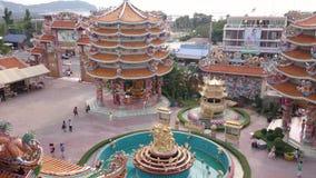 Chinesischer Tempel in Pattaya Thailand stock video
