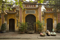Chinesischer Tempel in Hanoi Vietnam Lizenzfreie Stockfotografie