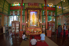 Chinesischer Tempel in Thailand (Innen) Stockfoto