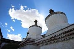 Chinesischer Tempel in Tibet Stockfotografie