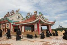 Chinesischer Tempel Viharnra Sien in Pattaya Lizenzfreie Stockfotografie