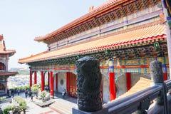 Chinesischer Tempelarchitektur-Designhintergrund Stockfotografie