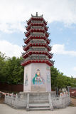 Chinesischer Tempelkontrollturm Stockfotografie