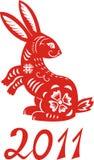 Chinesischer Tierkreis des Kaninchen-Jahres. vektor abbildung
