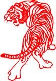 Chinesischer Tierkreis des Tigerjahres vektor abbildung