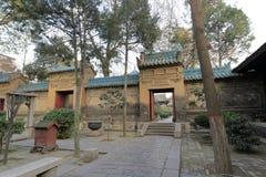 Chinesischer traditioneller Hof der großen Moschee Xian-huajue Wegs, luftgetrockneter Ziegelstein rgb Stockbilder