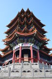 Chinesischer Turm. Chinese Shandong Penglai Wonderland pagoda Royalty Free Stock Photography