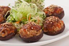 Chinesischer vegetarischer Pilz-Teller Stockfotografie