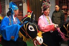 Chinesischer Volkstanzschauspielerin Lizenzfreie Stockfotos