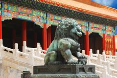 Chinesischer Wächterlöwe Stockfoto