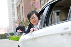Chinesischer weiblicher Fahrer stockbilder