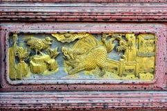 Chinesischer Woodcarving Stockbild