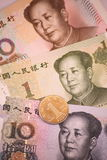 Chinesischer Yuan oder Renminbi Stockbild