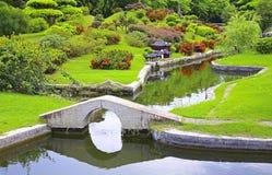 Chinesischer Zengarten Stockbild