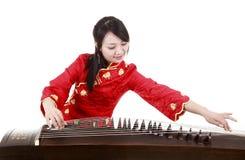 Chinesischer Zitherausführender Lizenzfreie Stockfotografie