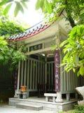 Chinesisches Acient gut mit Bambus herum, vetical Lizenzfreies Stockfoto