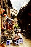 Chinesisches altes Dorf, alte Stadt Gontan Stockfotografie