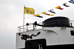 chinesisches altes Schlachtschiff Stockfotos