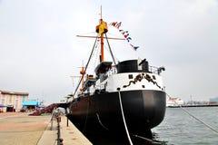 chinesisches altes Schlachtschiff Lizenzfreie Stockfotos