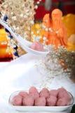 Chinesisches Aroma des Garnelenfleischballs Stockbilder