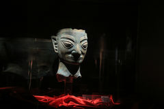 Chinesisches Artefakt in sanxingdui Museum, Sichuan, Porzellan Stockbilder