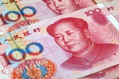 Chinesisches Bargeld: Renminbi Stockbild
