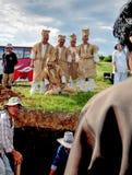Chinesisches Begräbnis- gesehene Beerdigungsmutter Monent Letztes Stockfoto