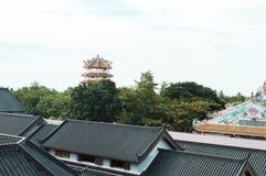 Chinesisches Dach in Thailand lizenzfreies stockfoto