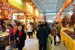 Chinesisches Festival des neuen Jahres Einkaufsin Sichuan Stockfotos