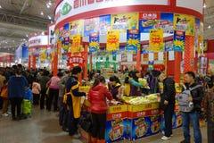 Chinesisches Festival des neuen Jahres Einkaufsin Sichuan Stockbilder