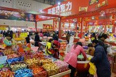 Chinesisches Festival des neuen Jahres Einkaufsin Sichuan Lizenzfreie Stockfotos