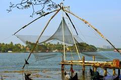 Chinesisches Fischernetz lizenzfreies stockbild