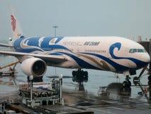 Chinesisches Flugzeug Tradititional künstlerisch gemalt Lizenzfreie Stockbilder