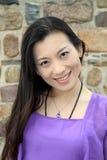 Chinesisches Frauenlächeln stockbild