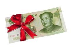 Chinesisches Geldgeschenk Stockfotografie