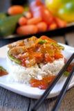 Chinesisches Gemüse in der süß-sauren Soße Stockfotografie