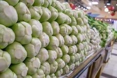 Chinesisches Gemüse in supermartket Stand Lizenzfreie Stockfotos