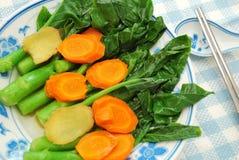 Chinesisches gesundes Kai Lan-Gemüse Lizenzfreie Stockfotografie