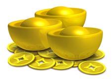 Chinesisches Gold Stockfotografie