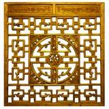 Chinesisches Goldtraditionelles Holz Lizenzfreie Stockbilder