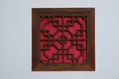 Chinesisches hölzernes Fenster stockfotografie