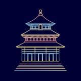 Chinesisches Haus lizenzfreie abbildung