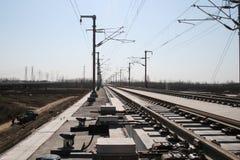 Chinesisches Hochgeschwindigkeitsgleis Stockfotografie