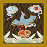 Chinesisches hohes ausführliches traditionelles Phoenix-Muster Stockfotografie