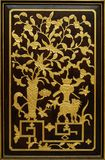 Chinesisches Holzschnitzen Stockbild
