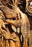Chinesisches Holzschnitzen Stockfotos