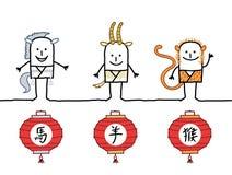 Chinesisches Horoskop 3 stock abbildung