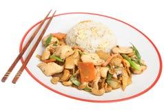 Chinesisches Huhn mit Acajounüssen Lizenzfreie Stockbilder